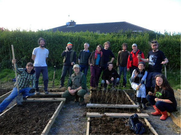 L6 horticulture students celebrate completion of the new tree nursery